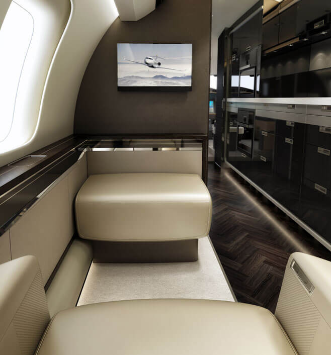 Jet Charter interior seating
